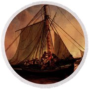 Simonsen Niels Arab Pirate Attack Round Beach Towel by Niels Simonsen