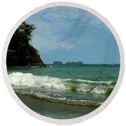 Simple Costa Rica Beach Round Beach Towel