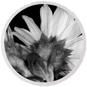 Simple Is Black And White Seeing The Other Side Round Beach Towel