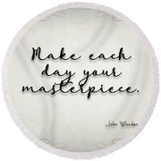 Simple Quote Series Wooden Round Beach Towel