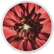 Simple Red Round Beach Towel