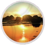 Simple Sunset Round Beach Towel