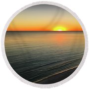 Simple Sunset Round Beach Towel