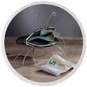 Simple Things - The Crab Round Beach Towel
