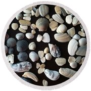 Simply Seashells Round Beach Towel