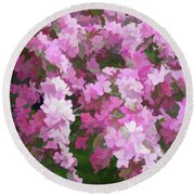 Round Beach Towel featuring the photograph Simply Soft Beautiful Blossoms by Aimee L Maher Photography and Art Visit ALMGallerydotcom