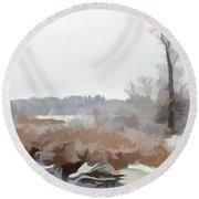 Round Beach Towel featuring the photograph Simply Soft Winters Glory by Aimee L Maher Photography and Art Visit ALMGallerydotcom