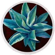 Simply Succulent Round Beach Towel