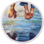 Simply Together Round Beach Towel