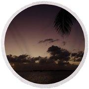 Simpson Bay Purple Sunset Saint Martin Caribbean Round Beach Towel