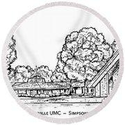 Simpsonville Umc Round Beach Towel