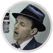 Sinatra - Color Round Beach Towel by Paul Tagliamonte