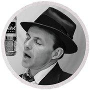 Sinatra Round Beach Towel by Paul Tagliamonte