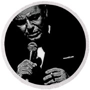 Sinatra W Sig Round Beach Towel