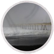 Round Beach Towel featuring the photograph Since You Left  by Laurie Search