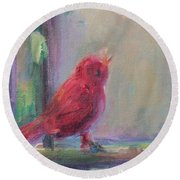 Sing Little Bird Round Beach Towel