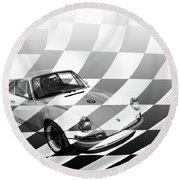 Singer Round Beach Towel by Roger Lighterness