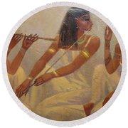 Singers Of Pharaoh Round Beach Towel