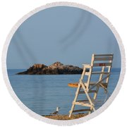 Singing Beach Lifeguard Chair Manchester By The Sea Ma Round Beach Towel