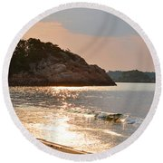 Singing Beach Silver Waves Manchester By The Sea Ma Round Beach Towel