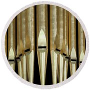Singing Pipes Round Beach Towel