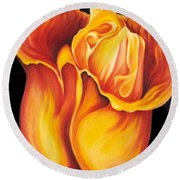 Singing Tulip Round Beach Towel