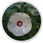 Single Bloom Round Beach Towel