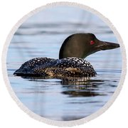 Single Loon Round Beach Towel