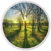 Round Beach Towel featuring the photograph Single Moments by Phil Koch