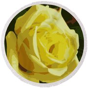 Friendship Rose Abstract Round Beach Towel