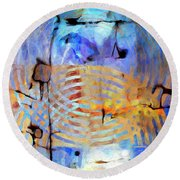 Round Beach Towel featuring the painting Singularity by Dominic Piperata