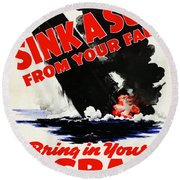 Sink A Sub From Your Farm Round Beach Towel