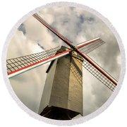 Sint Janshuismolen Windmill 2 Round Beach Towel