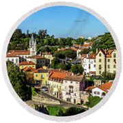 Sintra - The Most Romantic Village Of Portugal Round Beach Towel