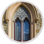 Round Beach Towel featuring the photograph Sintra Window by Carlos Caetano