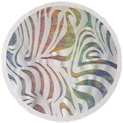 Round Beach Towel featuring the photograph Sinuous Lines by Nareeta Martin