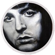 Sir Paul Mccartney Round Beach Towel