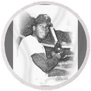 Rod Carew Round Beach Towel
