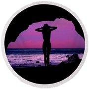 Siren Song Round Beach Towel