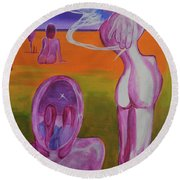 Sirens Round Beach Towel
