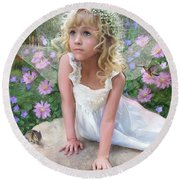 Sissy Fairy Round Beach Towel