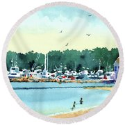 Sister Bay, Door County Round Beach Towel