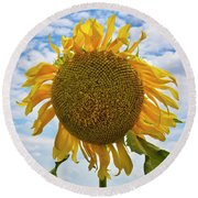 Sister Golden Hair Round Beach Towel