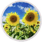 Sisters Round Beach Towel by Greg Fortier
