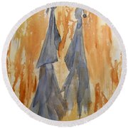 Sisters Round Beach Towel by Vicki  Housel