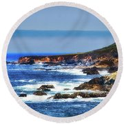 Sit And Stare Beach Round Beach Towel by Joseph Hollingsworth