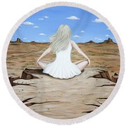 Sittin' On The Edge Round Beach Towel