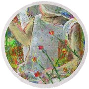 Sitting A Spell... Round Beach Towel