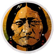 Sitting Bull Round Beach Towel