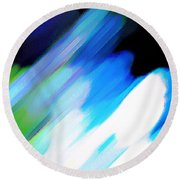 Round Beach Towel featuring the painting Sivilia 10 Abstract by Donna Corless